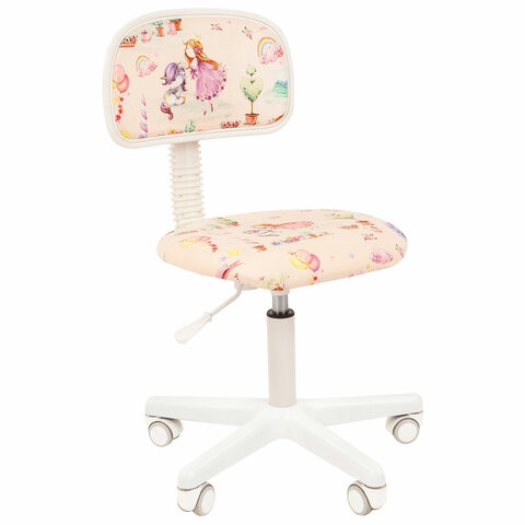 Кресло детское СН KIDS 101, без подлокотников, розовое с рисунком
