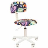 """Кресло детское СН KIDS 101, без подлокотников, цветное с рисунком """"Инопланетяне"""", 7027822"""