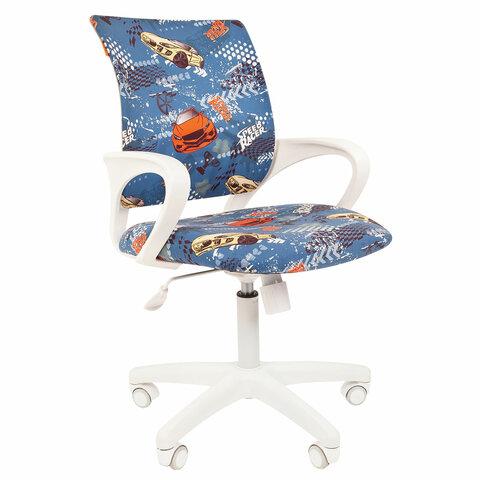 Кресло детское СН KIDS 103, с подлокотниками, синее с рисунком