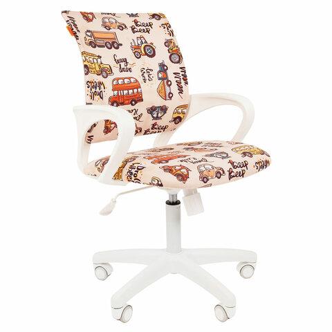 Кресло детское СН KIDS 103, с подлокотниками, бежевое с рисунком