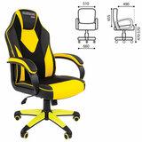 Кресло компьютерное СН GAME 17, экокожа, черное/желтое, 7028515
