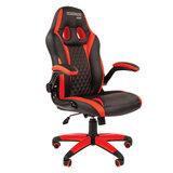 Кресло компьютерное СН GAME 15, экокожа, черное/красное, 7022777