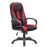 """Кресло компьютерное BRABIX PREMIUM """"Rapid GM-102"""", НАГРУЗКА 180 кг, экокожа/ткань, черное/красное, 532107"""