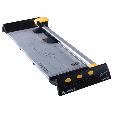 Резак роликовый ELECTRON A3, 10 л, длина реза 455 мм, металлическое основание, LED-указка реза, FELLOWES, FS-54105