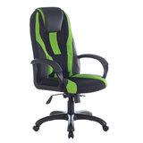 """Кресло компьютерное BRABIX PREMIUM """"Rapid GM-102"""", НАГРУЗКА 180 кг, экокожа/ткань, черное/зеленое, 532419, GM-102_532419"""