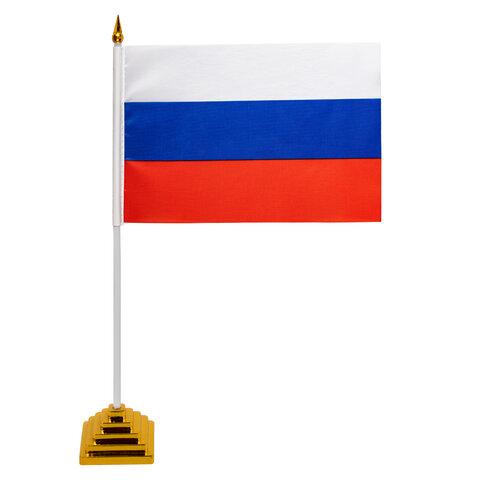 Флаг России настольный 14х21 см, без герба, BRAUBERG, 550184, RU22