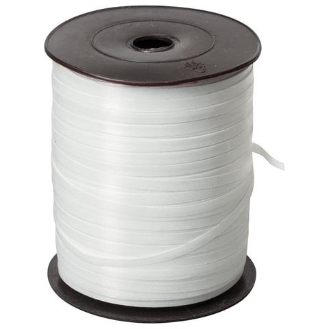 Праздничная лента белая (для шаров, упаковки, украшений), 500м, ширина 5мм, в бобине, 1302-0014