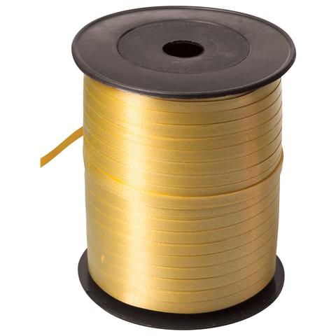Праздничная лента золотая (для шаров, упаковки, украшений), 500м, ширина 5мм, в бобине, 1302-0018