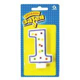 """Праздничная свеча цифра """"1"""" высотой 7,6 см"""