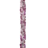 "Гирлянда ""Норка 1"", 1 штука, диаметр 50 мм, длина 2 м, серебро с красными кончиками, Г-206/6"