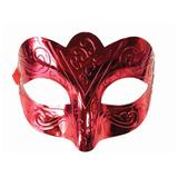 """Маска карнавальная """"Блестящая красная"""", 15,5х9х7,5 см, ПВХ, с атласной лентой, 75238"""