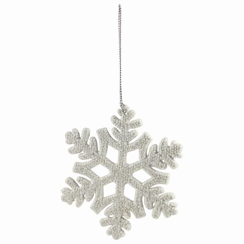 """Украшение елочное подвесное """"Снежинка белая"""", 10,5х10,5 см, пластик, 77911"""