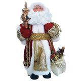 Дед Мороз декоративный, пластик/ткань, высота 30 см, в красной шубе, 75903