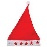 Колпак новогодний из нетканного материала (полиэстер), светодиодная подсветка, 28х38 см, красно-белый, 78587
