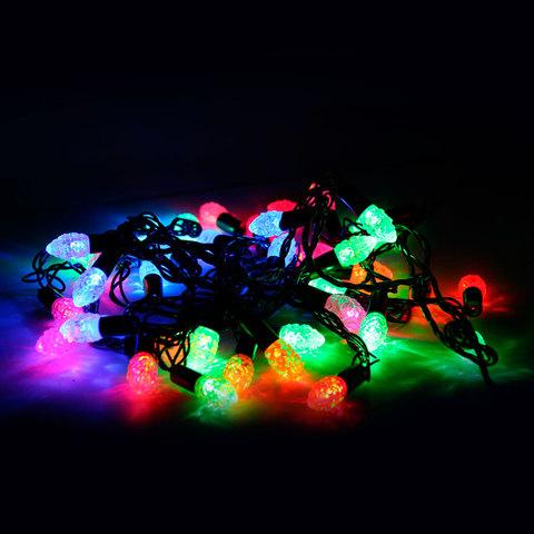 Электрогирлянда светодиодная ШИШКИ, 40 ламп, 5 м, многоцветная, 21353