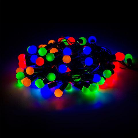 Электрогирлянда светодиодная УЛЬТРА ЯРКАЯ, 100 ламп, 10 м, многоцветная, с контроллером, 21355