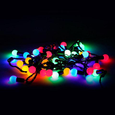 Электрогирлянда светодиодная УЛЬТРА ЯРКАЯ, 50 ламп, 5 м, многоцветная, с контроллером, 21356