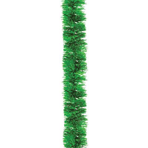 Мишура 1 штука, диаметр 50 мм, длина 2 м, зеленая, 4-180-5