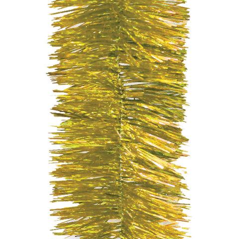 Мишура 1 штука, диаметр 100 мм, длина 2 м, золото, 5-180-10