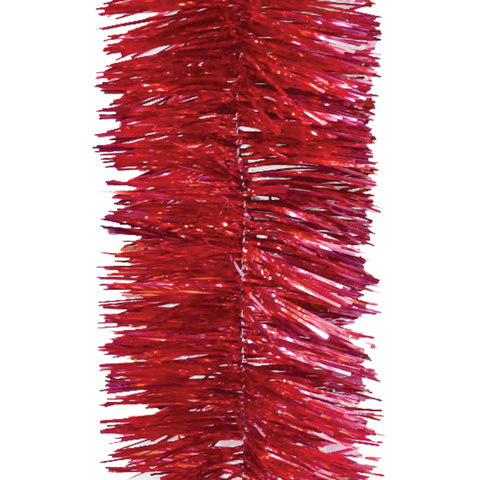 Мишура 1 штука, диаметр 100 мм, длина 2 м, красная, 5-180-10