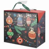 """Пакет-коробка подарочный 22,5х20х13,5 см, """"Новогодняя ночь"""", ламинированный, 79957"""