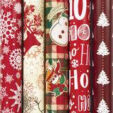 """Бумага упаковочная новогодняя 70х100 см ЗОЛОТАЯ СКАЗКА """"Red Collection"""", 5 дизайнов, 70 г/м<sup>2</sup>, 591582"""