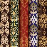 """Бумага упаковочная мелованная 70х100 см ЗОЛОТАЯ СКАЗКА """"Damask Luxury"""", 5 дизайнов, 70 г/м<sup>2</sup>, 591590"""