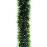 Мишура, 1 штука, диаметр 100 мм, длина 2 м, зеленая с салатовыми кончиками, Г-258