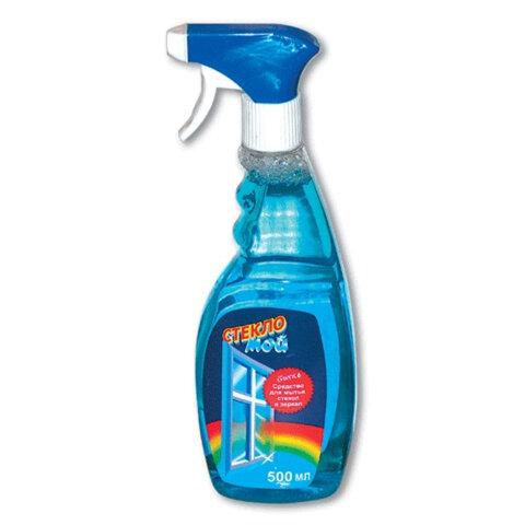 Средство для мытья стекол 500 мл, СТЕКЛОМОЙ, распылитель
