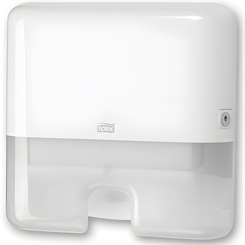 Диспенсер для полотенец TORK (H2) Elevation, mini, Interfold, белый, полотенца 124550, -551, 552100