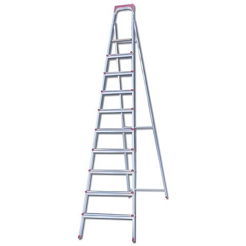"""Лестница-стремянка """"UFUK """", 226 см, 10 ступеней, стальная, облегченная, вес 13 кг, ТУ 24/KRM610"""