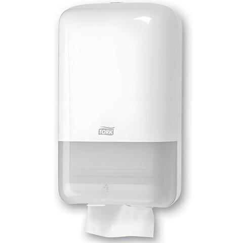 Диспенсер для туалетной бумаги листовой TORK (Система T3) Elevation, белый, бумага 124549, 556000