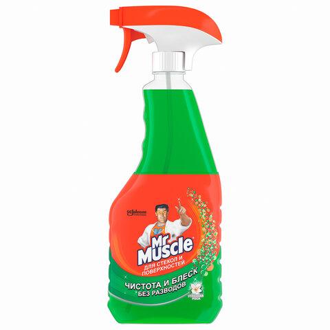 Средство для мытья стекол и зеркал 500 мл, МИСТЕР МУСКУЛ