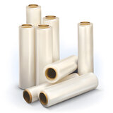 Стрейч-пленка для ручной упаковки 50 см х 169 м, 20 мкм, 1,55 кг - нетто, ПЕРВИЧНОЕ СЫРЬЕ, растяжение 300%