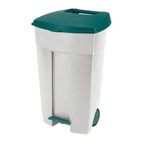 Контейнер для мусора 110 л + КРЫШКА RUBBERMAID/CURVER, 89х56х49 см, на колесах, с педалью, 03924