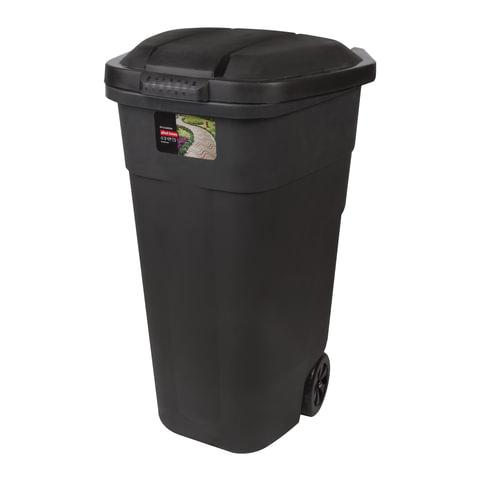 Контейнер 110 литров для мусора, с крышкой, на колесах, 84х54х58 см, пластиковый, PLAST TEAM, РТ9957