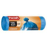 "Мешки для мусора 120 л, синие, в рулоне 10 шт., ПНД, 20 мкм, 110х70 см, PACLAN ""Classic"""