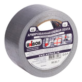 Клейкая лента армированная, 48 мм х 25 м, UNIBOB, основа-х/б ткань, прочная, европодвес