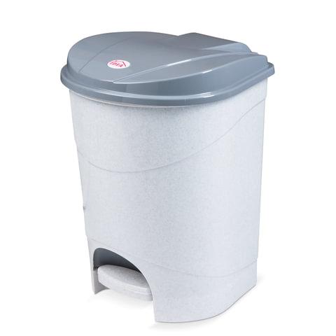 Ведро-контейнер 19 л, с крышкой и педалью, для мусора, 38х29х30 см, серое, IDEA, М2892