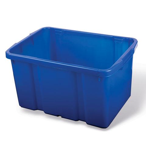 Ящик для хранения штабелируемый, 60 л, 60х40х34 см, цвет синий, PT9954