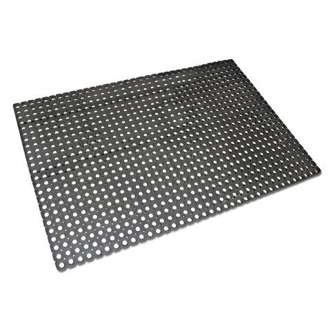 Коврик входной резиновый крупноячеистый грязезащитный, 50х100 см, толщина 16 мм, черный, VORTEX