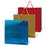 Пакет подарочный ламинированный, 40х55х24 см, голографический, цвет ассорти, HB-26/03