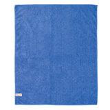Тряпка для мытья пола из микрофибры, СУПЕР ПЛОТНАЯ, 70х80 см, синяя, ЛАЙМА, 601250