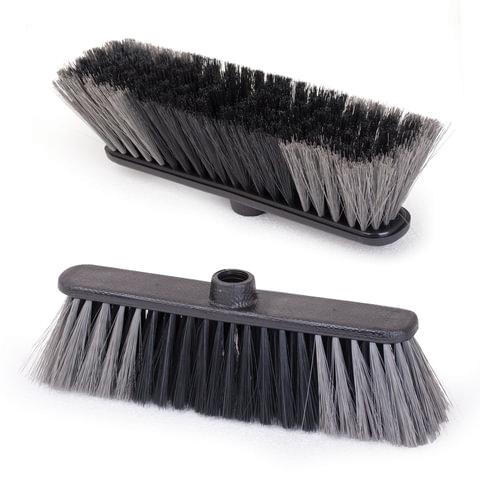"""Щетка для уборки """"Стандарт"""", ширина 27 см, высота щетины 7 см, пластик, черная (черенок 601322), IDEA, М 5101"""