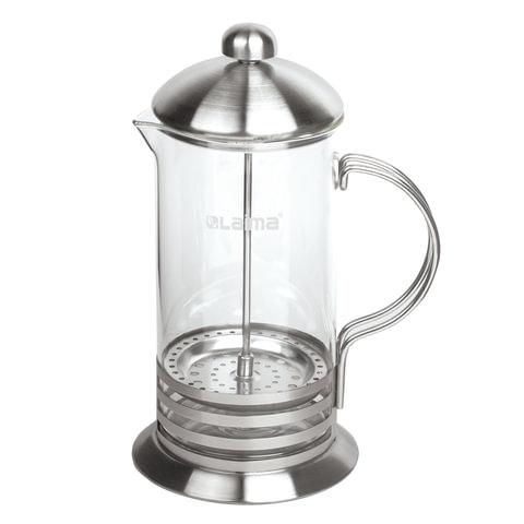 """Заварник (френч-пресс) ЛАЙМА """"Элит"""", 600 мл, жаропрочное стекло/нержавеющая сталь + пластиковая ложка, 601368"""