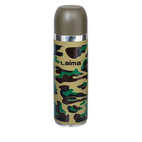 Термос LAIMA с узким горлом, 0,5 л, нержавеющая сталь, хаки, 601409