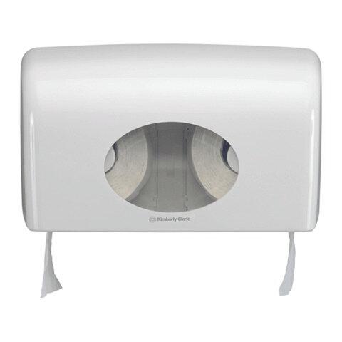 Диспенсер для туалетной бумаги KIMBERLY-CLARK Aquarius, белый, бумага 126125, 126124, АРТ. 6992
