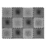 """Коврик входной пластиковый грязезащитный """"Травка"""", 560х420 мм, толщина 10 мм, серый-черный, 23005"""