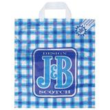 """Пакет с петлевой ручкой ПНД, 42х38 см, """"J&B синий"""", 37 мкм"""