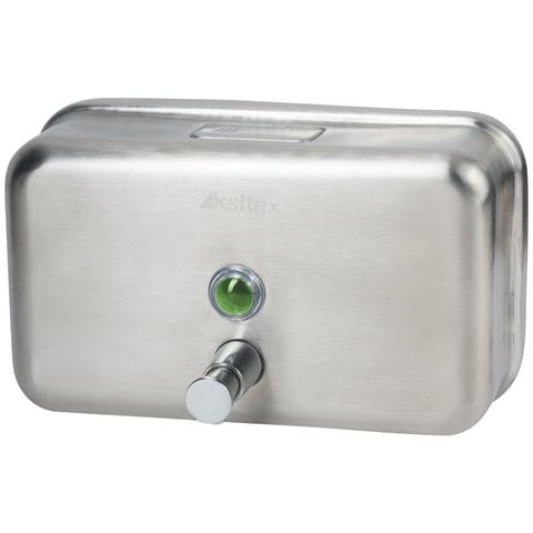 Диспенсер для жидкого мыла KSITEX, наливной, нержавеющая сталь, матовый, 1,2 л, SD-1200M